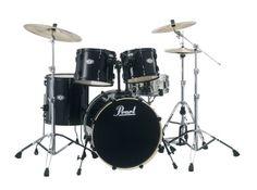Pearl Vision VX925/B31 Drum Kit, Jet Black (Cymbals Not Included) - Digital Guitarist