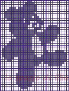 Crochet or knit Filet Crochet, Crochet Patterns Filet, Bobble Stitch Crochet, Crochet Cat Pattern, Crochet Teddy, Crochet Bear, Baby Blanket Crochet, Crochet Designs, Knitting Bear