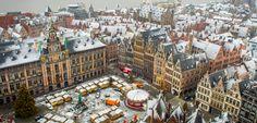 Antwerp Christmas market 2012 from the sky #belgium