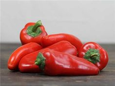 Lipstick Pepper | Baker Creek Heirloom Seed Co - 70 days. A delicious pepper with 4-inch long tapered, pimiento type fruit that are super sweet. This fine pepper is early and ripens well in the north. A flavorful favorite with thick, red flesh.