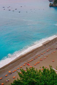 The beach at Le Sirenuse in Positano Italy, The Taste SF #italy #amalfi #travel #vscotravel #localtravel #amalficoast #positano #restaurant #italiantravel #decor #hotel #beach
