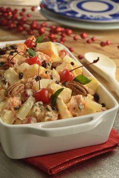 Ensalada de Manzana Tradicional - Knowing Tutorial and Ideas Fruit Salad Recipes, Mexican Food Recipes, Vegetarian Recipes, Healthy Recipes, Dessert Recipes, Desserts, Latin American Food, Latin Food, Holiday Recipes