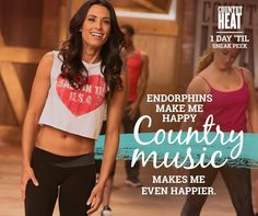Working out and country music is a perfect combo for me! <3