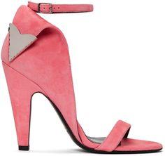 Calvin Klein 205W39NYC - Pink Suede Leititia Sandals