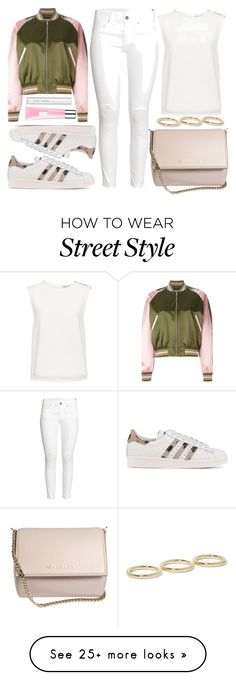 """""""street style"""" by sisaez on Polyvore featuring Alexander McQueen, H&M, Finders Keepers, Givenchy, Jennifer Fisher, adidas Originals, Clinique and Bobbi Brown Cosmetics"""