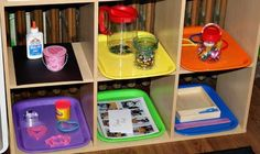 Tot Trays -- this mom explains why she uses tot trays, how she organizes them, etc.  **She got the trays from Oriental Trading.