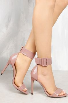- Lovely open toe ankle strap stiletto heels for the fashionable woman - Beautiful design offers a cool trendy look - Great for parties or social events - Ankle strap for style and support - Made from Nude Shoes, Stiletto Heels, Shoes Heels, Fancy Shoes, Me Too Shoes, Sexy Heels, High Heels, Girls Heels, Killer Heels