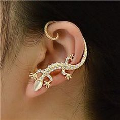 Fashion Exaggeration Gecko Design Lady's Earrings  from EricDresses on less price. Use coupon and promotional codes.