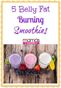 Belly fat burning smoothies that will get your tummy slim in no time! Weight loss smoothie recipes perfect to try NOW.