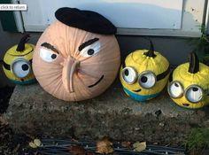 Gru and Minion pumpkins