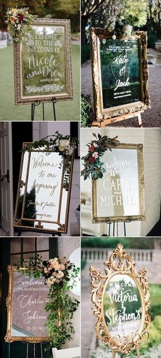 vintage gold frame wedding welcome signs wedding signs 30 Stunning Wedding Welcome Sign Ideas to Steal - Page 2 of 2 - Oh Best Day Ever Guestbook Wedding, Wedding Signage, Rustic Wedding, Our Wedding, Dream Wedding, Wedding Church, Decor Wedding, Wedding Ideas, August Wedding