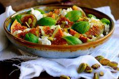 Lækker salat med mozzarella og figner