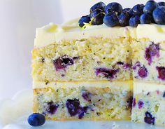 Blueberry Lemon Cake! One of my post popular posts in 2015!