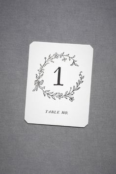 Table numbers for a wedding reception: would be so cute framed with twigs as the border