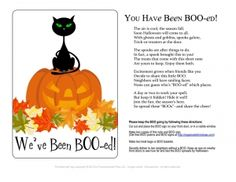 You've Been BOOed! Halloween BOO Poem and Signs