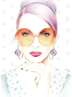 Fashion illustration Louis Vuitton by sookimstudio on Etsy