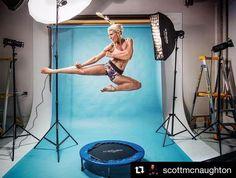 Behind the scenes by @scottmcnaughton : @tiffhall_xo in full flight! #famousbtsmag #iso1200 #proforo #profotob1 #profotoglobal #studio #fitnessportrait #behindthescenes