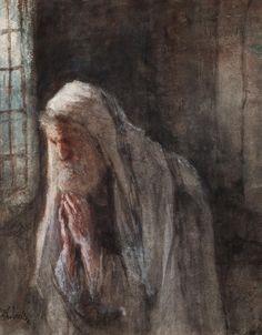 israels, jozef a prayer Henri Fantin Latour, Prayer Images, Medieval, Quirky Art, Z Arts, Dutch Painters, Jewish Art, Dutch Artists, World Cultures