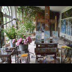 @botanicaetcetera  Claire Basler's Studio No.3.  See her work @clairebasler #Chateau #clairbasler #studio #provence interiors pottery #artist #art #create #home #stylish #style #interiordesign #interior #interiordecor #decor #design #green #painting #floral #botanical #plants #garden #flowers #arrangement #lifestyle #gallery #chic