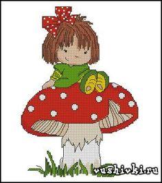 Menina em cogumelos (Tatiana Marchukova)