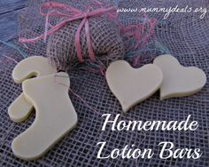 Homemade Lotion Bars make the perfect gift or treat to yourself.  Homemade Lotion Bars can be made in any shape and require a few basic ingredients but feel amazing.  ~Mummy Deals