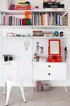 kid's desk + shelves
