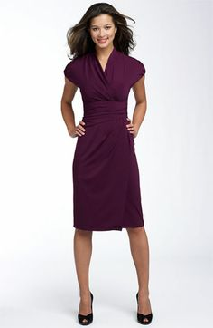 Suzi Chin for Maggy Boutique Ruched Faux Wrap Dress (Regular & Petite) available at #Nordstrom
