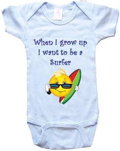 Baby OnePiece Body Suit Personalized Gifts When I by BIGBOYMUSIC, $14.99