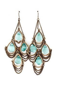 Aquamarine Chandelier Earrings | Awesome Selection of Chic Fashion Jewelry | Emma Stine Limited https://www.facebook.com/myselfjewelery?sk=app_251458316228