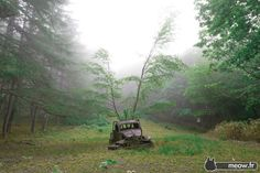The Abandoned Car of the Mountains by Jordy Meow