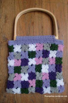 Flowers bag good pattern for baby blanket