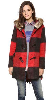 BB Dakota Buffalo Plaid Coat