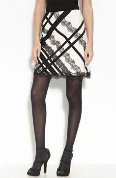 Nanette Lepore 'Sin Zin' Lace Appliqué Skirt ($178, Nordstrom). Unfortunately sold out...