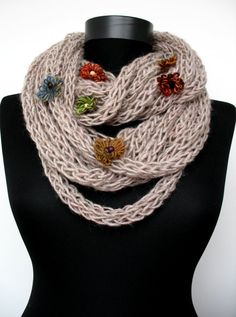 Scarf necklace loop scarf infinity scarf neck by DreamList
