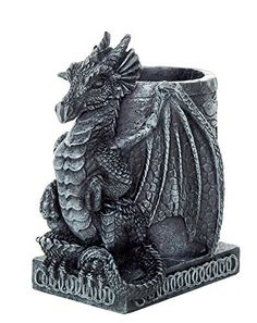 A Dragon Pencil holder made from polyresin. Ideal for your desktop   Perfect gift for those that love Pencil Holder Great craftmanship. Measurement: H: 4.5   Related Related Posts Wicked Fire Dragon Fantasy Knife &[...]