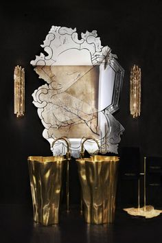Come to Maison & Objet Paris and know all the novelties about Maison Valentina at Hall and our partners Brabbu (HALL - and Boca do Lobo (HALL 7 Stand: Bathroom Inspiration, Interior Design Inspiration, Bathroom Ideas, Mirror Inspiration, Bathroom Trends, Bathroom Designs, Bathroom Vanities, Remodel Bathroom, Bathroom Furniture