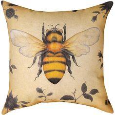 Bee Indoor Outdoor Pillow