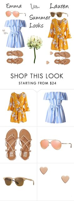"""Summer Looks"" by turtle-pie17 on Polyvore featuring Chicwish, WithChic, Billabong, Burberry and Ray-Ban"