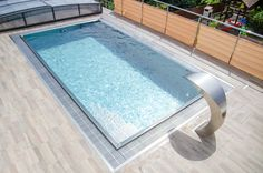 Stainless steel pool with overflow trough around entire perimeter Summer Pool, Enjoy Your Life, Garden Pool, In Ground Pools, Rooftop, Sunny Days, Swimming Pools, Have Fun, Stainless Steel