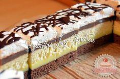Somlói szelet Hungarian Desserts, Hungarian Cake, Hungarian Recipes, Cake Bars, Nutella, Sweet Recipes, Food To Make, Sweet Tooth, Sweet Treats