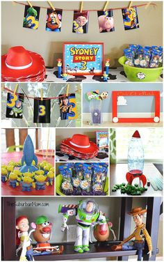 Toy Story Birthday Party Ideas - Toys for years old happy toys Toy Story Party, Fête Toy Story, Toy Story Theme, Toy Story Cakes, Toy Story Birthday, Toy Story Food, 6th Birthday Parties, Third Birthday, Boy Birthday