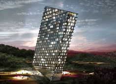 Architects at BIG designed a high-rises that will reshape the city of Guiyang in China. Among several other international architects, BIG will help redefine Guiyang's Huaxi district, the city's educational and cultural center. By proposing a generic hotel slab on one of Huaxi's mountain slopes, architects envisioned a new and unique landmark, attracting visitors to an area already known for its touristic appeal.