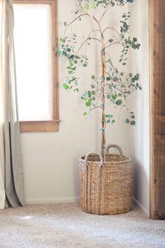 Lake House Update | Living Room | Indoor Tree