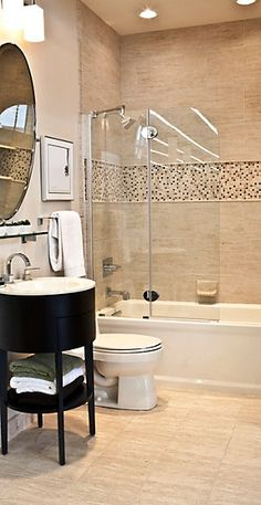 Best pictures, images and photos about farmhouse bathroom tile ideas search: bathroom tile ideas floor, bathroom tile ideas shower, bathroom tile ideas small, bathroom tile ideas d Beige Tile Bathroom, Small Bathroom Tiles, Bathroom Tile Designs, Upstairs Bathrooms, Bathroom Renos, Bathroom Flooring, Bathroom Ideas, Bathroom Gallery, Neutral Bathroom