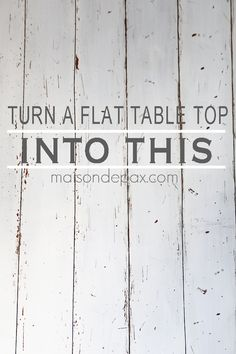 Need to update an old desk or table? Use this tutorial to create a gorgeous rustic, distressed faux planked desk or table top. Diy Table Top, Make A Table, Diy Furniture Projects, Furniture Makeover, Office Furniture, Diy Projects, Plywood Table, Plywood Floors, Plank Table