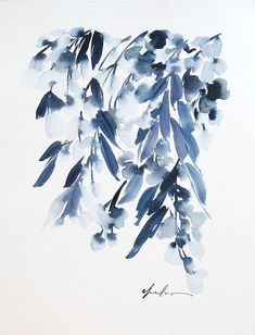 """Yao Cheng is a Columbus, Ohio based watercolor artist. She opened her Etsy shop in 2012 and creates works of beautiful color combinations. Cheng's original paintings are around $200 while her prints start at $28 and go up to $80 for a 16"""" x 20"""". She also sells pillow covers which are"""