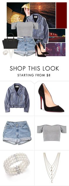 """ I swear on my mother pearls"" by arrowette-845 ❤ liked on Polyvore featuring Acne Studios, Christian Louboutin, Boohoo, Bloomingdale's, Ettika and MICHAEL Michael Kors"