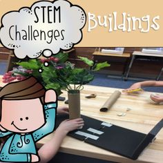 Combine thematic units and creative, artistic, outside-the-box thinking in these STEM and STEAM Makerspace activities! They are a great way to incorporate STEM into your core Reading, Math, Science or Social Studies instruction. They come in a variety of sets so that you can differentiate based on your student's needs.   What's Included  This GROWING BUNDLE of STEM resource is all about buildings. There will be 30 activities in total by the end of July (and more likely sooner); 11 of whi