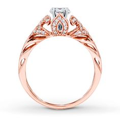 Diamond Ring Setting 1/5 ct tw Round-cut 14K Rose Gold