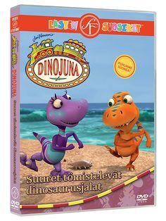 Dinojuna 13, Suuret tömistelevät dinosaurusjalat -dvd sisältää jaksot: Siipikunkut, Iso mutakuoppa, Pukkihammas-Pasi, Tiinun pikkuystävä, Suuret tömistelevät dinosaurusjalat, Timanttivuosipäivä, Hyvä äiti ja Sarvenluomisjuhla. Kesto 1 t 53 min. Sallittu.